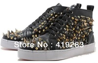 Free shipping hot sale top quality man spike shoes hottest red bottom men dress spike shoes