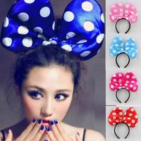Party supplies hair accessory flash super large bow tie headband hair accessory luminous big bow headband MICKEY headband
