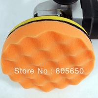 """1PC 7""""(Coarse) foam pad Buffing-Polishing Waffle Pad Standard grade cutting paint pad"""