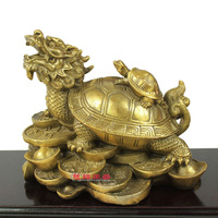Coins dragon turtle decoration leading turtle copper turtle anti lilliputian