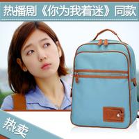 2013 women's handbag backpack student school bag 14 computer backpack