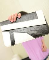 Hot  women's handbag serpentine pattern color block clutch day clutch envelope bag messenger bag vintage small bags