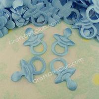 300 Blue Pacifier Baby Shower Applique Party Favor Gift 2CM x 2.8CM free ship