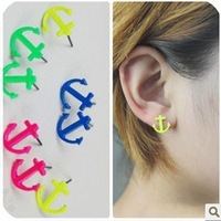 Min.order is $5 (mix order)Free Shipping, Europea and America Lady Earrings,Anchor Earrings,Fashion Jewelry(OE0193)