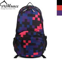 Trend vintage check plaid casual backpack bag male women's handbag student school bag backpack laptop bag