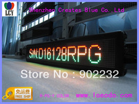 Free ship/led moving sign/Russian 2 lines/1pcs sell/16*128dots/RGY-BI color/High brightness/Manufacturer/MiniLED Display/4.75mm