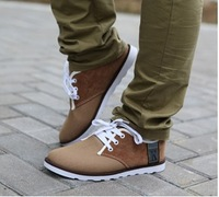 free shipping 2013 new men's shoes casual shoes fashion canvas shoes with low to help,men flat shoes