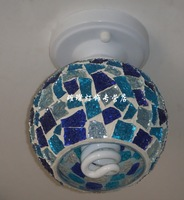 New Arrival Lamp blue mosaic aisle corridor entrance balcony ceiling drop light lamp,Nice Christmas Gift,1pcs/lot