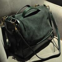 Fashion bags 2013 women's nubuck leather patchwork handbag messenger bag handbag women's bags