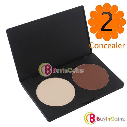 2 Color Professional Contour Shading Facial Care Makeup Foundation Concealer Palette#2555(China (Mainland))