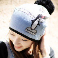 ANGELCITIZ women's hat cartoon jacquard knitted hat female yh1353