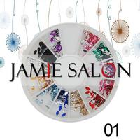 Nail Art Acrylic Rhinestones Horse Eye Design Glitter Gems Decoration Wheel Set / Gem Size:2*4mm #01