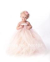 2013 New Arrival Light Pink Halter Empire Waist Ball Gown Floor Length Kids Bridal Dresses