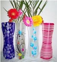 home decoration noelty plastic vase foldable plastic flower vase Convenient water bag  hot sale wholsale Free shipping 08088