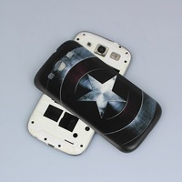 100% High Quality Retro Captain America Battery Door Back Cover For Samsung Galaxy SIII i9300