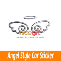 10pcs/lot Cute 3D PVC Small Angel Style Angel Car Sticker Auto Car Emblem Decal Decoration