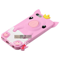 Baby Crown Pig Silicone Rubber Soft Back Case Cove for Apple ipod touch 5 5Gen 5th