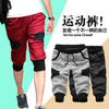 Men's Casual capri pants cargos shorts /mens letters printing Cropped Trousers