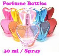 30ml spray perfume bottles glass empty small perfume refillable atomizer bottle container free shipping wholesale#1126