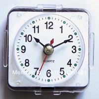 Whose sale  sliver bezel wall clock  plastic insert clock part art clock clock head carft clock 48mm Arabic number 5pcs/lot