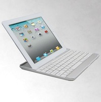 Aluminum Wireless Bluetooth Keyboard Case Cover for New iPad4 iPad3 ipad 2