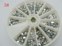 Big Discount!1pcs/set  Nail Art Rhinestones Glitter Tip Gems WheelFree Shipping Free Shipping!#3