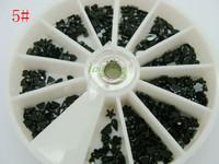 Big Discount!1pcs/set  Nail Art Rhinestones Glitter Tip Gems WheelFree Shipping Free Shipping!#5