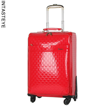 Travel bag female check box check 20 japanned leather universal wheels trolley luggage o-x31
