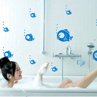Beautiful fish wall stickers tile bathroom shower room glass stickers