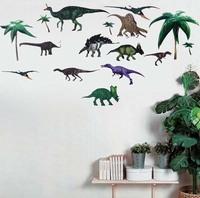 Dinosaur Wall Sticker Kids Room Nursery Decals Vinyl Removable Baby Xmas Gift coconut tree kids decor sticker nursery wall