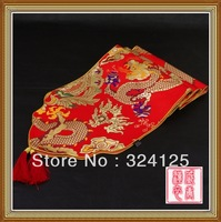 34*230cm High Quality Handmade Chinese Classical Style silk Table Flag in Perfect Design With Delicate and Fine Arts 10 colors