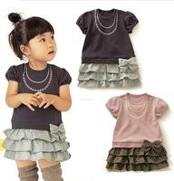 XZ2012-059 Free shipping NEW 5pcs/lot Baby clothing dresses children shirt dress girls' wear GTQ-100