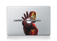 2013 New Design Iron Man Sticker Stickers Decals for MacBook Decal Sticker Skin for Apple Free Shipping