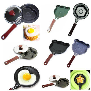 Breakfast omelette pan device pancake Egg Fryer Skillet Mini Fry Frying Pan(no lids) Cookware Non-Stick 10-design style optional(China (Mainland))