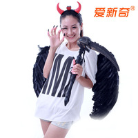 Christmas dance party clothes halloween supplies demon wings piece set