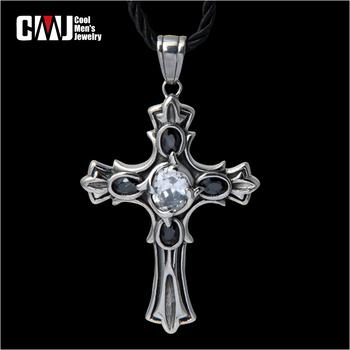 Male cross pendant fashion personality fashion accessories gem necklace male accessories