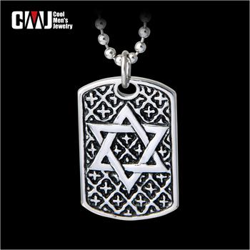 Male accessories male personalized tags vintage hexagram pendants necklace magic titanium accessories