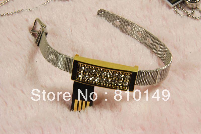 Jewelry  bracelets usb flash drive 4GB 8GB 16GB 32GB 64GB  Free shipping