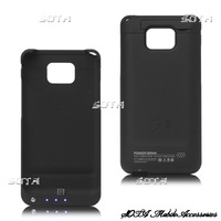 2800mAh External Battery Charger Back Skin Case Cover Protector for Samsung I9100 Galaxy S2 / II free shipping