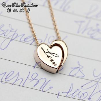 Gemini necklace nobility female princess necklace 14k rose gold vintage