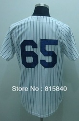 Free Shipping,Wholesale & Retail Baseball Jersey, New York #65 Phil Hughes Jersey,Embroidery and Sewing Logos,Size M--3XL(China (Mainland))