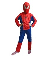 Hot Halloween Spider Man Spider-Man Suit Clothes Apparel Spiderman Costume Children Kids Boys New  Free Shiping V3596
