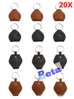 20pcs/lot real leather good quality guitar pick holder bags, reliable plectrum holder free shipping, black or brown color