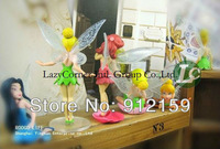 Wholesale 10sets/LotHigh Quality PVC (6pcs/set) Tinkerbell Nymph Adorable tinker bell Figures Free Shipping