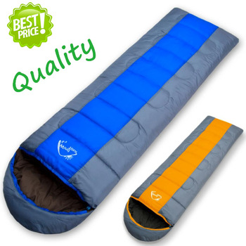 Hot Sale Sleeping Bags Camping Envelope Hooded Outdoor Camping Adult Sleep Bag Winter Autumn Sleeping Bag Down (190+25)*75cm