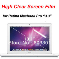 "10pcs/lot High Clear Screen Film for macbook Pro 13.3"" with retina diplay, 13.3"" retina display screen protector, retail box"