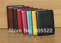 Original leather case for Amazon kindle 4 with wake up/sleep function 30pcs/lot mixed color DHL free shipping