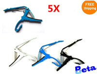 acoustic electric guitar small capo quick change tune trigger, 5 different colors guitar parts change key 5pcs/lot free shipping