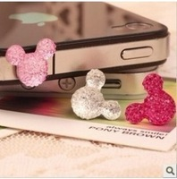For for iphone 4 4s dust plug earphones hole for iphone 5 rhinestone dust plug for apple earphones 4s tampion