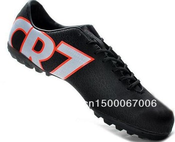 Lowest Price 2013 New Turf Indoor Soccer Shoes CR 7 IC&TF Men's Ball Trainers Athletic Has Logo On It US6.5-12Size Dropship